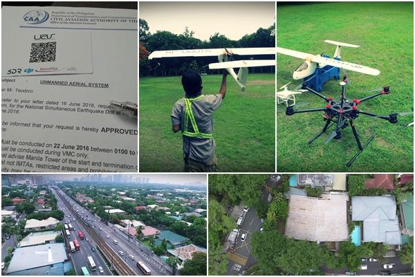 Metro Manila Shake Drill Drones